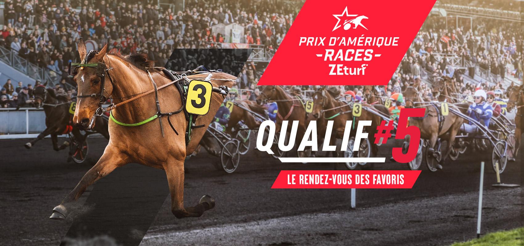 Les engagés du Prix d'Amérique Races ZEturf QUALIF #5